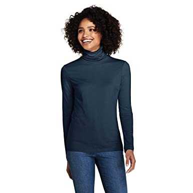 a3c96ef56510e8 Lands  End Women s Petite Lightweight Fitted Turtleneck Layering at Amazon  Women s Clothing store