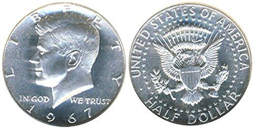 1967 Kennedy SMS 40% Silver Half Dollar (1967 Silver Kennedy Half Dollar)