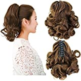 Beauty Angelbella New Popular Women Medium Long Curly Claw Jaw Ponytail Clip On Hair Extensions Hairpiece (2-30#)