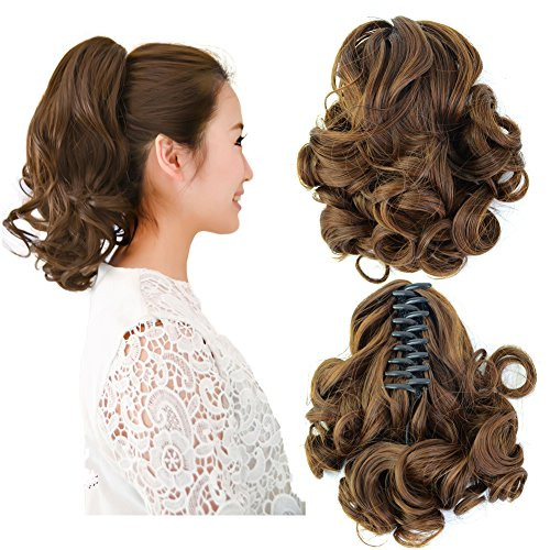 Beauty Angelbella New Popular Women Medium Long Curly Claw J