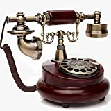 old dial telephones - Edge To Corded Telephones Creative Old-fashioned Rotary Dial Phone, Antique European Pastoral Retro Telephone, Home Landline, Office Fixed
