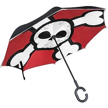 Paraguas invertido cráneo Pirata Reverso automático Abierto ...
