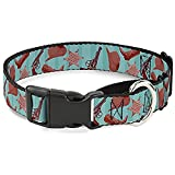 Buckle Down MGC-W37108-L Sheriff's Gear Vertical Stripe Turquoise Browns Martingale Dog Collar