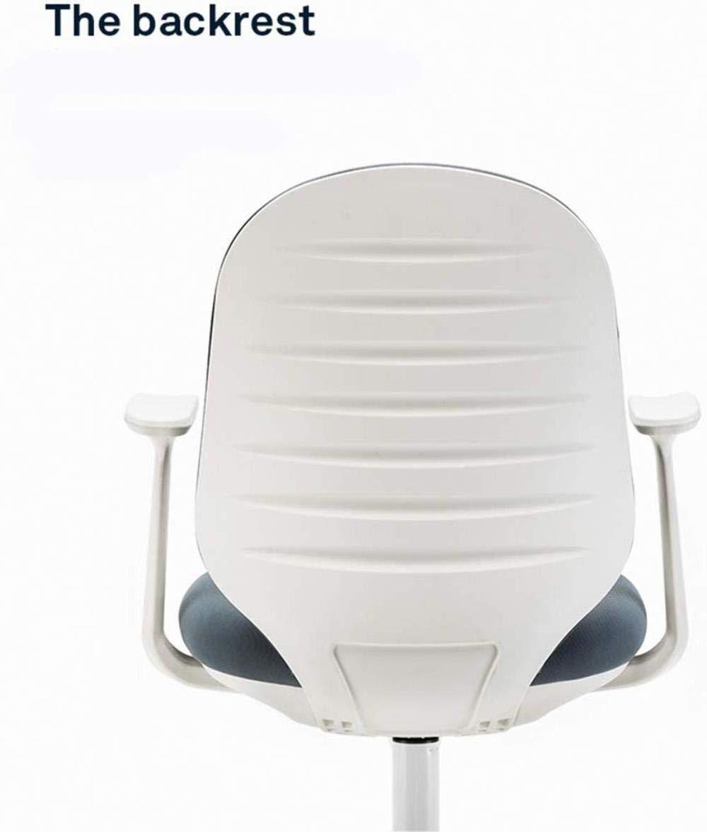 Xiuyun kontorsskrivbordsstol modern enkelhet hem lärande stol upphöjd roterande stol båge ryggstöd fibertyger bärvikt 200 kg flerfärgat valfritt (färg: Vit grå) Svart, rött