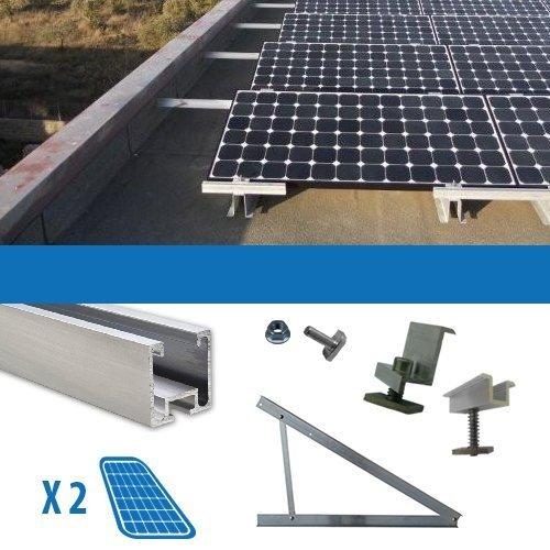Kit Kit für 2Solarpanel Photovoltaik-80/100/130/150W Flachdach
