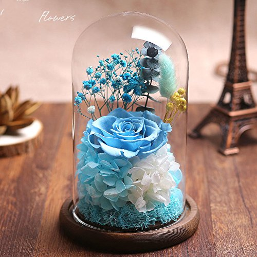 Eternal flower gift cover rose handmade flower decoration,Love valentine's day birthday gift-D