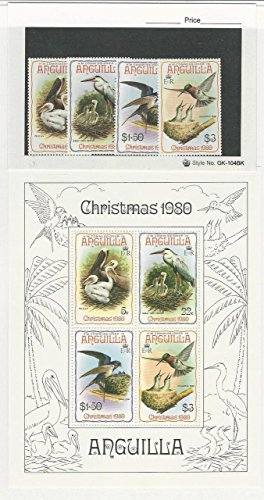 British Postage Stamps - Anguilla, British, Postage Stamp, 398-401a Mint NH Set & Sheet, 1980 Birds