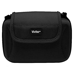 Vivitar Deluxe Compact Hard Shell Camera Bag / Case For Nikon 1 J1, Nikon 1 V1, Mirrorles Digital Camera + LCD Screen Protectors + MicroFiber Cleaning Cloth from ButterflyPhoto