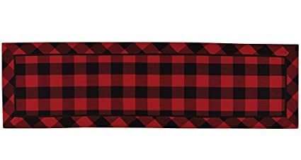 Buffalo Check Table Runner Red U0026 Black 14.5 X 50.5 Inches
