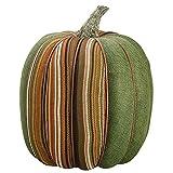 9''Hx8''W Artificial Burlap Pumpkin -Green/Mixed (pack of 6)