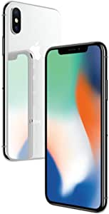Apple iPhone X Silver 256GB SIM-Free Smartphone (Renewed)
