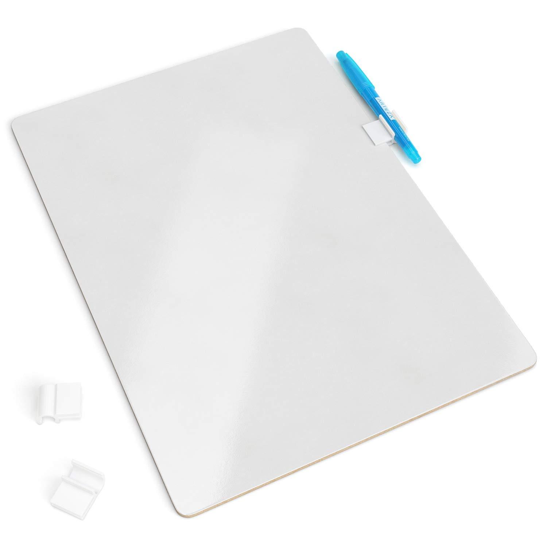 ARTEZA Tableros de pizarra blanca pequeña | Conjunto de 16 tableros de doble cara | Tamaño 22,5 x 30 cm | Pizarras de rotulador pequeñas para aulas y ...