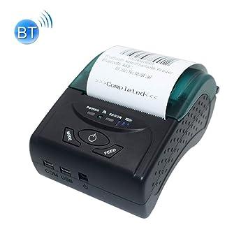 GzPuluz POS5807 Impresora Termal portátil del boleto de ...
