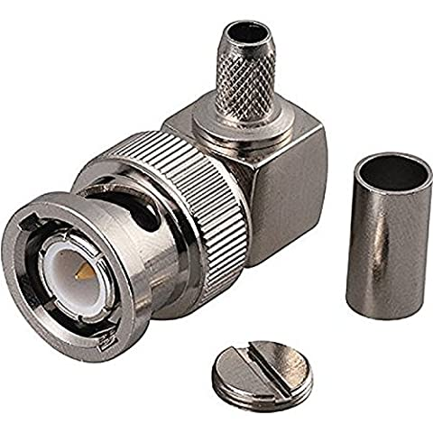 BNC Plug with Male Center Pin in Right Angle RF Connector for 195 RG58 RG142 Coaxial Cable High Quality Ships From - Right Angle Bnc