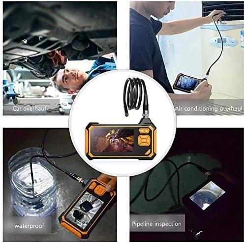 Otoscope工業用内視鏡、8Mm防水ヘビ管6個のLEDライト付きハンドヘルドプロ用カメラボアスコープ,10m
