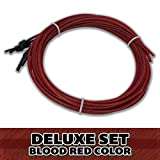 Superior Bassworks DELUXE Upright Double Bass Strings Blood Red Color FULL SET