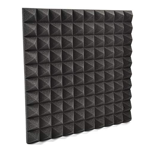 Smartey 5050CM Sound Insulation Noise Reduction Pyramidal Acoustic Panels DIY Mural Wall Stickers for Wall Door Dome Decoration Wall Art Wall Decoration (Best Sound Karaoke On Demand)
