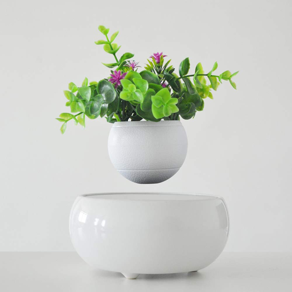 ZHIHUI Floating Bonsai Pot - Magnetic Suspension Levitating Air Flower Pots - Creative Design Levitation Bonsai - Home Office Decorations - Fun Gift by ZHIHUI