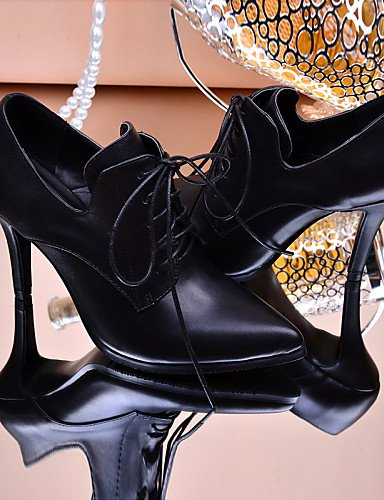 ZQ 2016 Scarpe Donna - Stringate - Matrimonio / Tempo libero / Formale - Comoda / A punta - A cono - Di pelle - Nero / Marrone / Rosso , brown-us9.5-10 / eu41 / uk7.5-8 / cn42 , brown-us9.5-10 / eu41  red-us8.5 / eu39 / uk6.5 / cn40