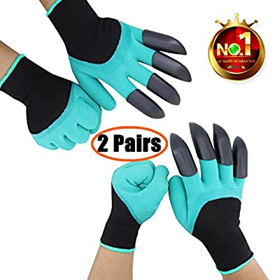 Right & Left Hand Garden Genie Gloves with Claw Fingertips Unisex Gardening Tools Quick Easy to Dig and Plant - As Seen On TV