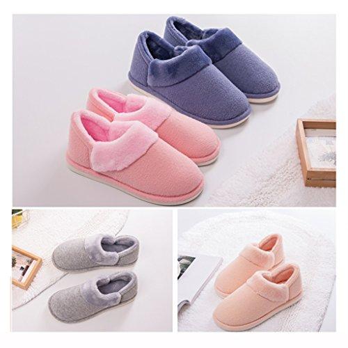 Chaussures Chaud Extérieur Dww De Bleu Muet Hygroscopique Froid Intérieur Anti Mâle Confortables dérapant Pantoufles Coton Épais Chaussons Et BHxpqqZ