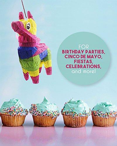 Pack of 3 Miniature Donkey Pinatas - Rainbow Donkey Mini-Sized Mexican Pinatas for Birthday Party, Cinco De Mayo, Fiestas, Celebrations - 4 x 7.5 x 2 inches