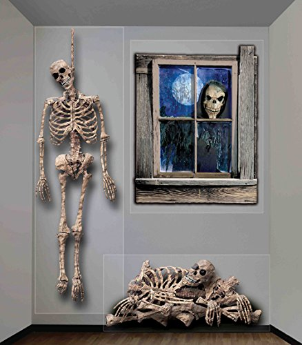 Forum Novelties 68914 Haunted House Indoor/Outdoor Ghastly Wall Decoration, 5', Multicolor, 5-Foot,]()