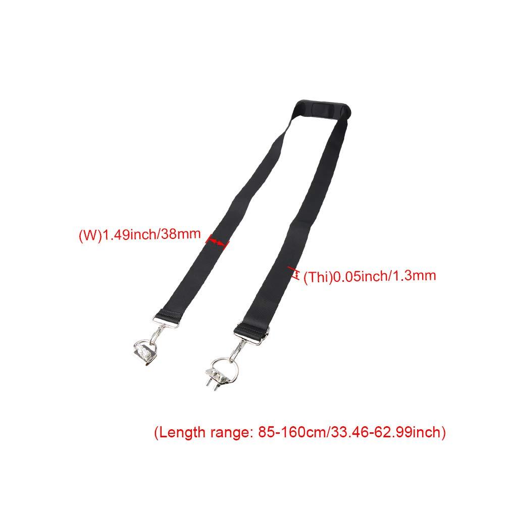 Yibuy 2 Hole Knapsack Waist Strap D Ring Buckle with Shoulder Pad 38 MM Width
