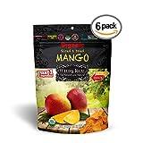 Organic Sun Dried Mangos - 3.5oz (Pack of 6) - Kosher and Non-GMO