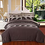 GL&G European cotton satin embroidery four - piece fashion simple embroidery cotton quilt bed linen,Q,null