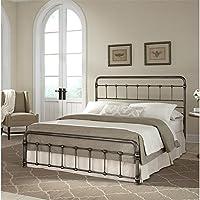 Pemberly Row King Metal Bed in Weathered Nickel