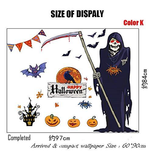 1 piece 2018 Halloween Removable Stickers Wall pumpkins seasonal 3D Wallpaper Decoration