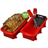 Best Loaf Pans - Walfos Nonstick Silicone Bread and Loaf Pan Set Review