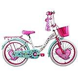 Pintarela Bicicleta para Niña con Canastilla Frontal y Portabultos, Rodada 20 1 Velocidad