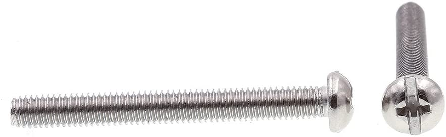 Pack of 100 Prime-Line 9004405 Machine Screw Round Head Slotted//Phillips Combo Grade 18-8 Stainless Steel #10-32 X 1-3//4 in