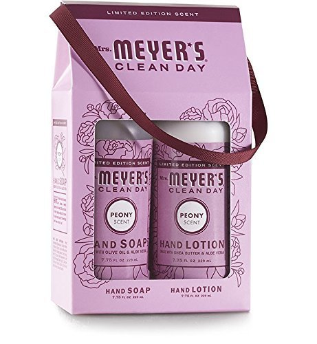 (Mrs. Meyer's Spring hand soap+ hand lotion gift set, Peony)