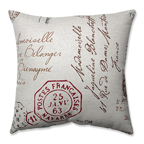 Pillow Perfect Decorative Linen/ Red French Laundry Square T