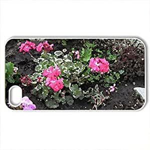 Flowers at the park - Case Cover for iPhone 4 and 4s (Flowers Series, Watercolor style, White)