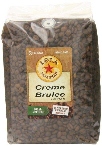 Lola Savannah Crème Brulée Whole Bean Coffee - Flavored Arabica Beans with Luscious Vanilla Custard & Caramel | Caffeinated | 2lb Bag ()