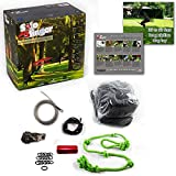 Tumbo's Solo Slinger outdoor tough hanging 50 ft zipline dog toy (uses bungee force to sling the rope toy back and fourth to the center) Review