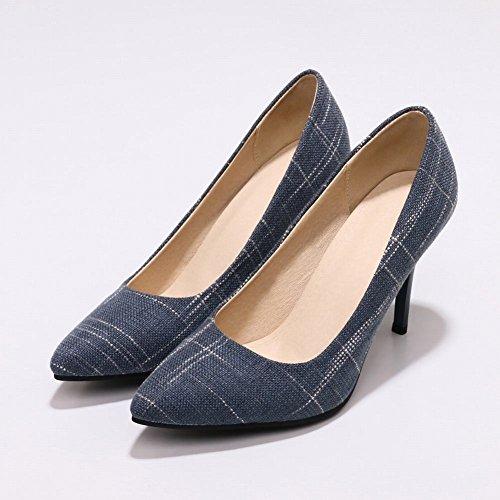 MissSaSa Damen Spitz High Heel Pumps/Abendschuhe Blau