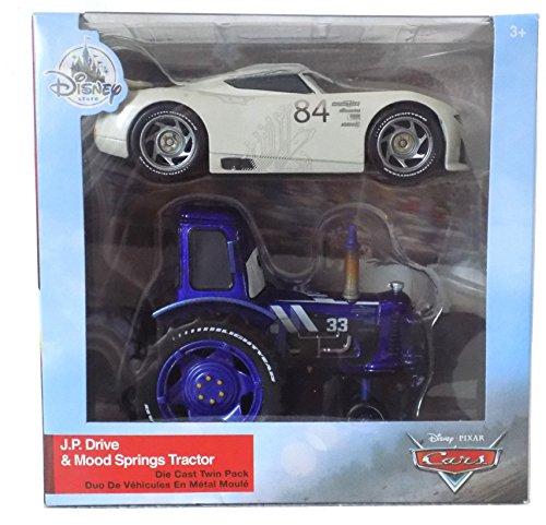 ディズニー ピクサー カーズ クロスロード 1/43スケールダイキャストカー J.P. ドライブ & ムード・スプリングス トラクター Disney Pixar Cars - 1:43 Scale - J.P.Drive (Apple Car) and Mood Springs Tractor