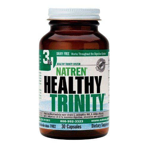 (Natren Healthy Trinity Probiotic Capsules, 30 Count)