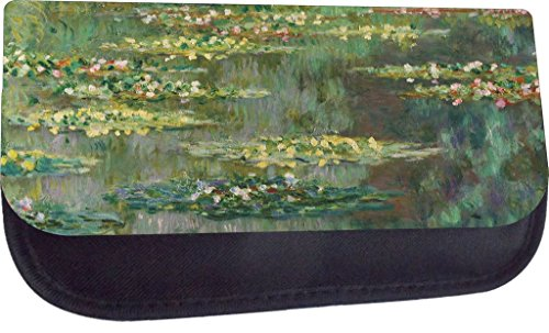 Artist Claude Monet's Water Lilies-Nympheas Painting-Print Design TM Pencil Case Made in (Nympheas Water Lilies)