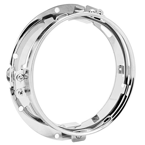 Amazicha Chrome 7 inch Headlight Mounting Bracket Ring Holder For Harley Davidson Touring FLD Softail