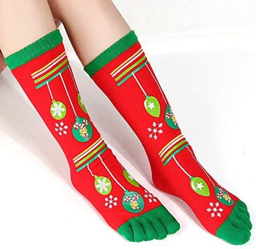 beifangww 5 Pack Winter Warm Christmas Toe Warm Warm Cómodo Wearable Desodorante Transpirable Personalidad Parejas Cinco Dedos Calcetines 5: Amazon.es: Hogar