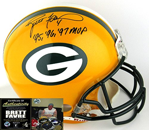 Brett Favre Autographed/Signed Green Bay Packers Riddell Authentic NFL Helmet