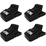 Rat Trap 4-Pack, Safe Reusable Sanitary Durable Mess-Free Sensitive Snap Traps That Work, Best Rat Trap Large For Outdoors Indoor, 100% Kill Rate, Mouse Trap Outdoor, Chipmunk Rodent Mice Trap by Atex
