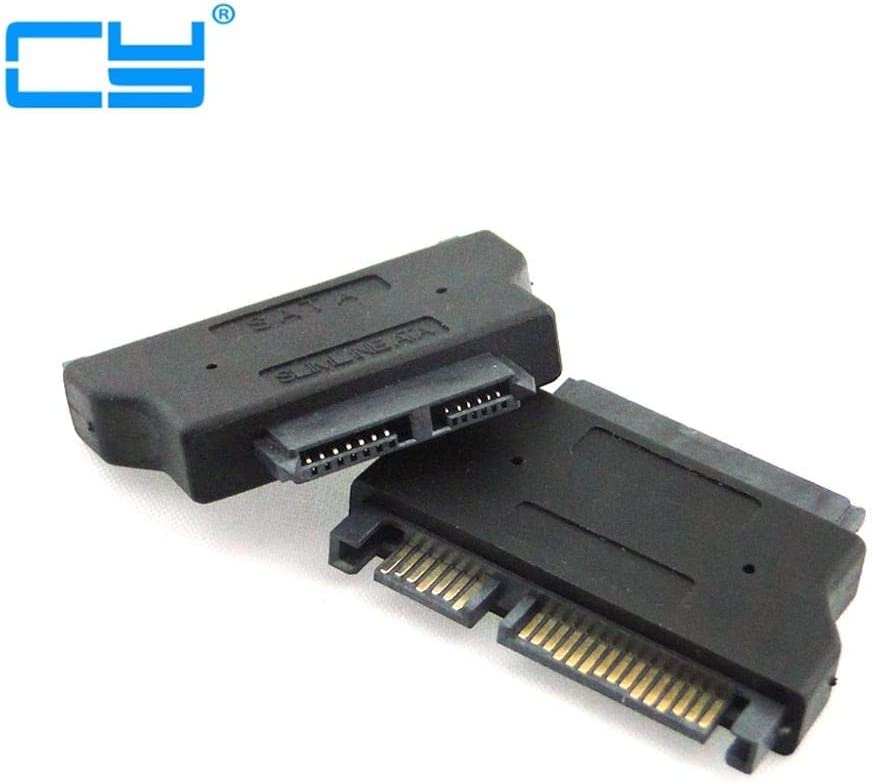 Computer Cables SATA 22 //Male to Slimline SATA 13 Female Laptop CD-ROM convertor Adapter Cable Length: Adapter, Color: Black