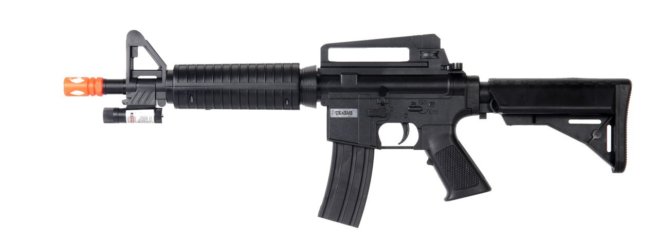ukarms m-16c Carbine Spring Airsoft Gun Assault Rifle fps-240 w/Attachable Aiming Sight(Airsoft Gun)